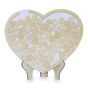 Decorative Card and Wood Wishing Heart with Heart Messages Wedding Birthday Engagement New