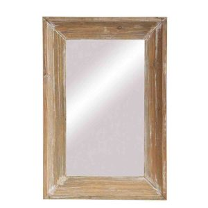 French Country Medium Rustic Wooden Frame Mirror 60x40cm New