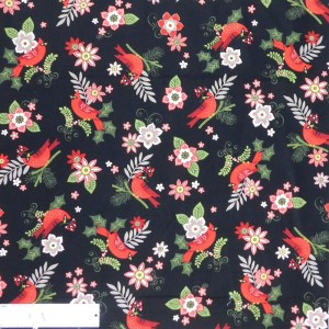 Quilting Patchwork Sewing Fabric FLORAL RED BIRDS 50x55cm FQ New