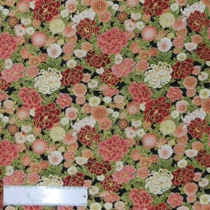 Quilting Patchwork Sewing Fabric WIND SONG FLORAL 50x55cm FQ New Material