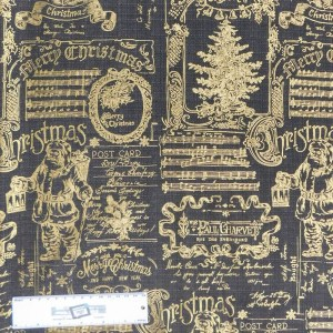 Quilting Patchwork Sewing Fabric METALLIC VINTAGE CHRISTMAS 50x55cm FQ New