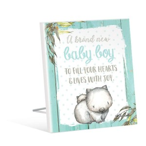French Country Vintage Wooden BABY JOEYS Wombat Baby Boy Sign New