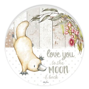 French Country ROUND Wall Art BABY JOEY Platypus Moon Large Sign New
