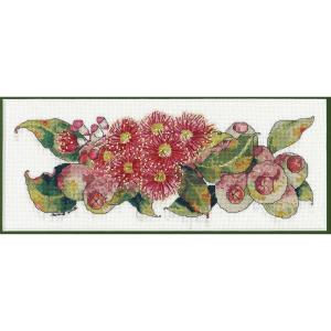 DMC Cross Stitch Kit RED FLOWERING GUM HELENE WILD HW007 New