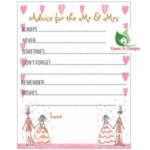 Wedding Decorations Advice for the Mr and Mrs Booklet Pack of 50 New