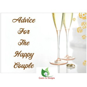 Wedding Decorations Advice for the Happy Couple Cards Pack of 20 New