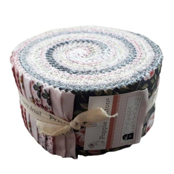 Quilting Jelly Roll Patchwork GINGHAM FARMHOUSE 2.5 Inch Sewing Fabrics New
