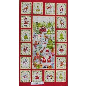 Patchwork Quilting Sewing Fabric FESTIVE CHRISTMAS Panel 60x110cm New Material