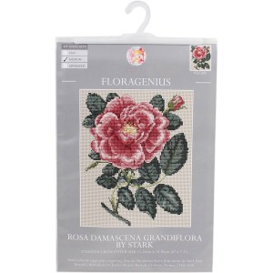 My Cross Stitch FLORAGENIUS ROSA DAMASCENA GRANDIFLORA Kit New 057140