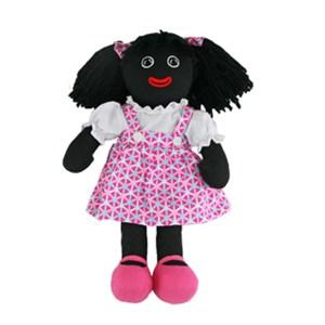 Lovely Soft Rag Doll ANGIE Pink Dress Girl Doll 35cm New