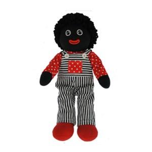 Lovely Soft Rag Doll GROVER Black and White Overalls 35cm New