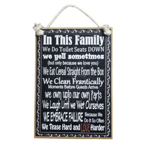 Country Printed Quality Wooden Sign In This Family Funny 2 Plaque