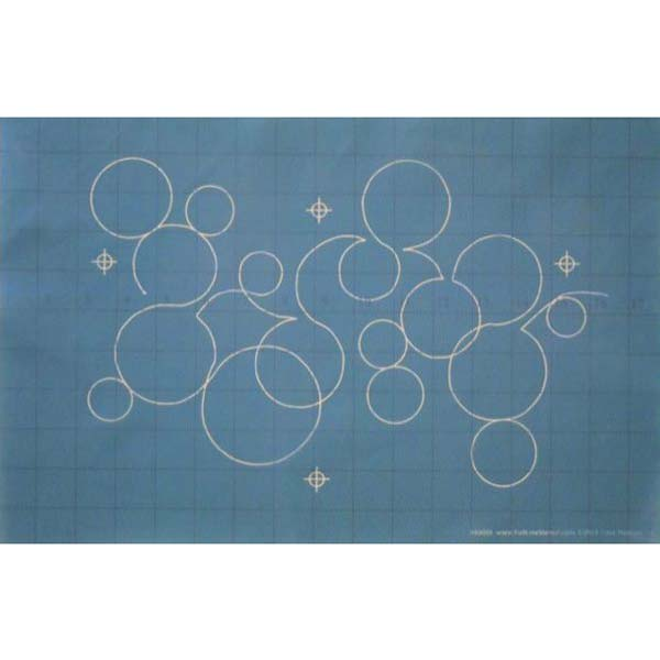 Quilting Full Line Stencil BUBBLES Reusable A3 use with Pounce New