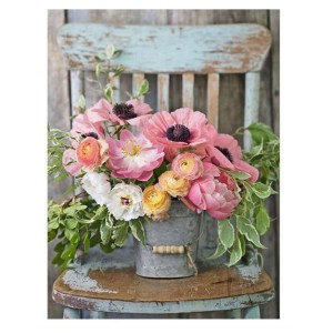 5D Diamond Painting Full Image Square Drills FLOWERS CHAIR 40x50cm