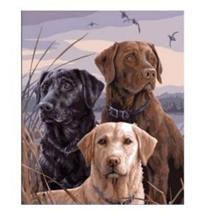 5D Diamond Painting Full Image Square Drills LABRADOR DOGS 40x50cm