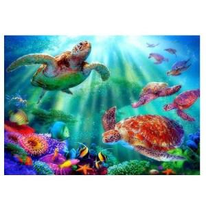 5D Diamond Painting Full Image Square Drills SEA TURTLES 40x50cm