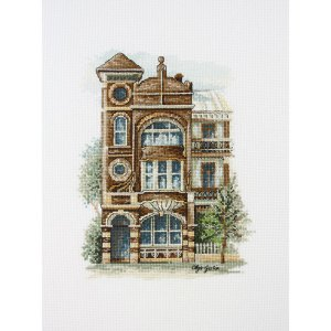 DMC Cross Stitch Kit ART NOUVEAU TERRACE House New Olga Gostin 577104