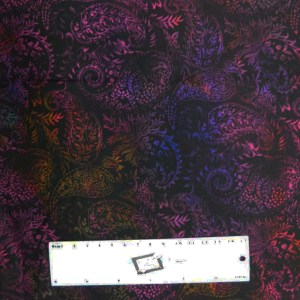 Quilting Patchwork Sewing Fabric JASON YENTER SEASONS PAISLEY MULTI 50x55cm FQ New