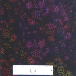 Quilting Patchwork Sewing Fabric JASON YENTER SEASONS DARK PURPLE 50x55cm FQ New