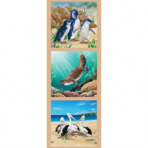 Patchwork Quilting Sewing Fabric PENGUIN PELICAN PLATYPUS Panel 41x110cm New