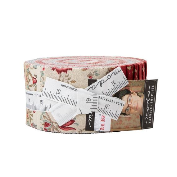 Quilting Jelly Roll Patchwork MODA LE BEAU PAPILLON 2.5 Inch Sewing Fabrics