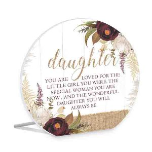 French Country Wooden Sign Natives DAUGHTER LOVED Plaque