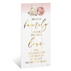 French Country Wooden Sign Mothers Day FAMILY MEANS LOVE Plaque