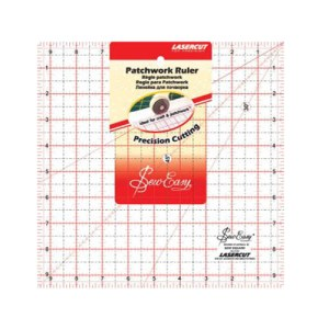 Quilting Patchwork Sewing Template MED SQUARE 9.5x9.5 Inch Sew Easy NL4158