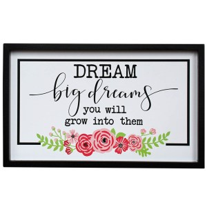 French Country Farmhouse Wall Art DREAM BIG DREAMS Wooden Sign