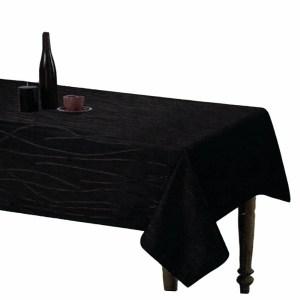 Country Table Cloth SONATA BLACK Tablecloth RECTANGLE 140x185cm