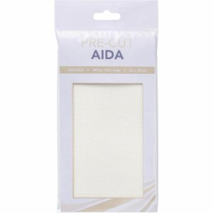 Create Handmade Cross Stitch Aida Cloth 14 Count WHITE Size 36x45cm Fabric