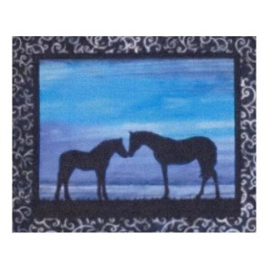 Quilting Sewing HORSE 3 Batik Quilt Pattern Kit including Fabric