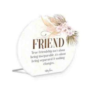 French Country Wooden Sign Bismark TRUE FRIEND Plaque