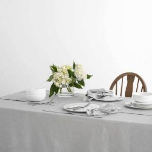 Country Table Cloth KILDARE GREY Tablecloth RECTANGLE 150x300cm