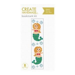 Create Handmade Cross Stitch Kit Beginner MERMAID BOOKMARK 5x20cm