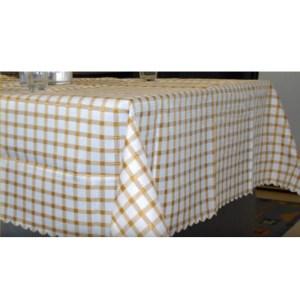 Country Table Cloth TARA BROWN CHECK Tablecloth RECTANGLE 135x180cm