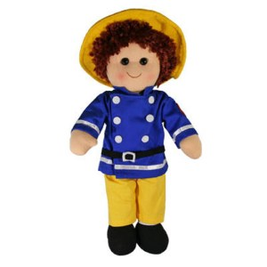 Hopscotch Lovely Soft Rag Doll TED Fireman Boy Doll Large 35cm