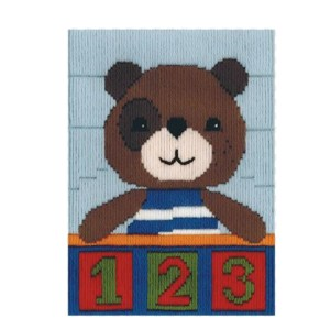 BEUTRON Long Stitch Kit Kids Beginner 123 TEDDY BEAR 579874