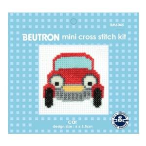 BEUTRON Cross Stitch Kit For Beginner CAR 6x6cm BM6045