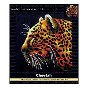 Country Threads Long Stitch Kit CHEETAH FLS-5008 Inc Threads
