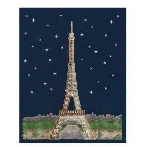 DMC Cross X Stitch Kit PARIS BY NIGHT 20x25cm BK1725