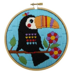 Make It Long Stitch Kit Kids Beginner TOUCAN with Hoop 585203