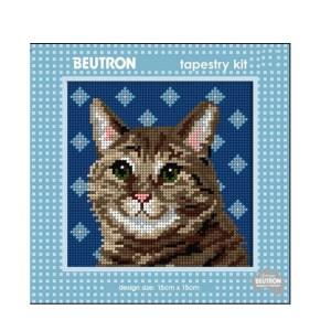 Beautron Handmade Tapestry Kit Beginner TUBBY CAT 585111