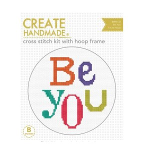 Create Handmade Cross Stitch Kit With Hoop BE YOU 15cm