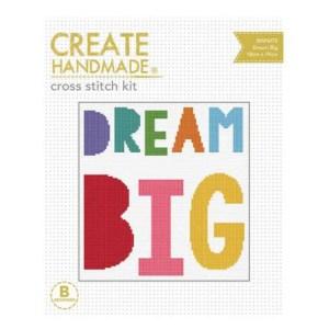 Create Handmade Cross Stitch Kit Beginner DREAM BIG 18x19cm