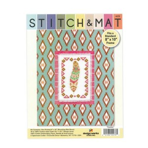 Cross Stitch FEATHER X Stitch and Mat Kit incl Threads