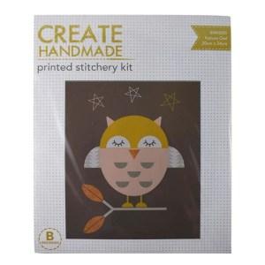 Create Handmade Stitchery Kit Beginner NATURE OWL 20x24cm