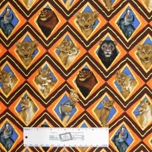 Quilting Patchwork Fabric LION KING MOSAIC 50x55cm FQ
