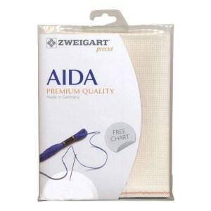 Cross Stitch Aida Cloth 18 count ZWEIGART ECRU CREAM Size 48x53cm Fabric