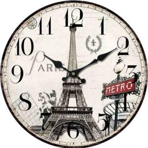 Clock Wall Hanging PARIS EIFFEL TOWER METRO Clocks 29cm